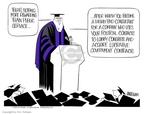 Cartoonist Ann Telnaes  Ann Telnaes' Editorial Cartoons 2004-05-25 graduation