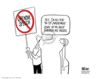 Cartoonist Ann Telnaes  Ann Telnaes' Editorial Cartoons 2006-02-23 freedom of speech