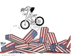 Cartoonist Ann Telnaes  Ann Telnaes' Editorial Cartoons 2005-08-16 bicycle