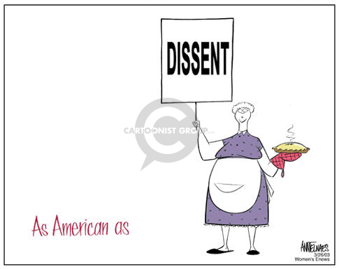 As American as.  Dissent.