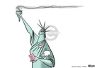 Cartoonist Ann Telnaes  Ann Telnaes' Women's  eNews Cartoons 2008-07-29 voter