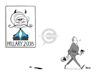 Cartoonist Ann Telnaes  Ann Telnaes' Women's  eNews Cartoons 2007-08-21 presidential election