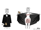 Cartoonist Ann Telnaes  Ann Telnaes' Women's  eNews Cartoons 2005-10-20 abortion