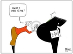 Cartoonist Ann Telnaes  Ann Telnaes' Women's  eNews Cartoons 2006-03-11 abortion