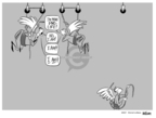 Cartoonist Ann Telnaes  Ann Telnaes' Women's  eNews Cartoons 2007-08-08 presidential election