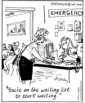 Emergency Room Waiting Cartoon That's Life...