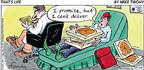 Cartoonist Mike Twohy  That's Life 2003-01-12 pizza