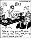 Cartoonist Mike Twohy  That's Life 2003-02-18 old age