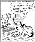 Cartoonist Mike Twohy  That's Life 2003-03-15 lazy dog