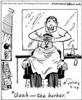 Cartoonist Mike Twohy  That's Life 2003-03-29 barber shop