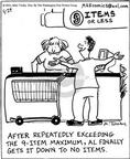 Cartoonist Mike Twohy  That's Life 2003-05-29 grocery shop