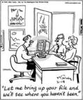 Cartoonist Mike Twohy  That's Life 2004-02-18 travel agency