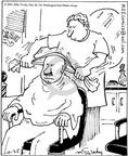 Cartoonist Mike Twohy  That's Life 2003-10-25 barber shop