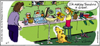 Cartoonist Mike Twohy  That's Life 2004-11-07 dog treat