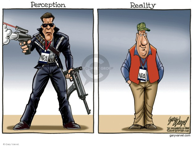 Perception. NRA. Reality. NRA.