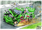 Cartoonist Gary Varvel  Gary Varvel's Editorial Cartoons 2014-07-23 green