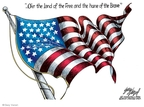 Cartoonist Gary Varvel  Gary Varvel's Editorial Cartoons 2008-07-03 flag