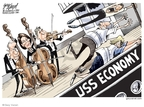 Cartoonist Gary Varvel  Gary Varvel's Editorial Cartoons 2008-09-30 George W. Bush economy