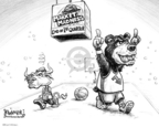 Cartoonist Karl Wimer  Karl Wimer Financial Cartoons 2008-04-04 March madness