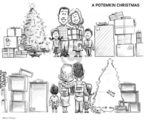 Cartoonist Karl Wimer  Karl Wimer Financial Cartoons 2008-12-12 Christmas