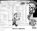 Cartoonist Karl Wimer  Karl Wimer Financial Cartoons 2007-04-13 minimum tax