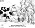 Cartoonist Karl Wimer  Karl Wimer Financial Cartoons 2009-12-18 March madness