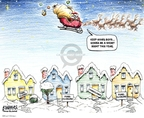 Cartoonist Karl Wimer  Karl Wimer Financial Cartoons 2009-12-25 Christmas