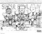 Cartoonist Karl Wimer  Karl Wimer Financial Cartoons 2010-02-05 football