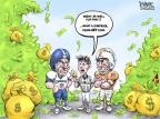 Cartoonist Karl Wimer  Karl Wimer Financial Cartoons 2011-04-01 football strike
